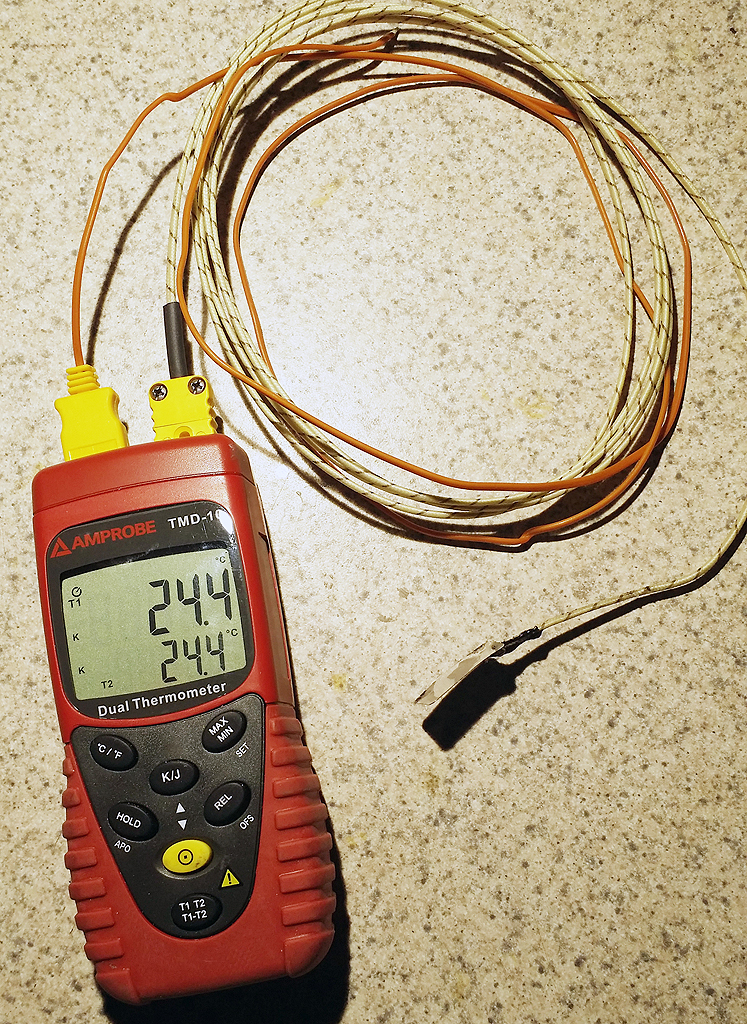 The Amprobe TMD-10  is a simple 2 channel meter that uses either K series or J series probes. A great basic level meter for those needing accurate readings of one or two points.