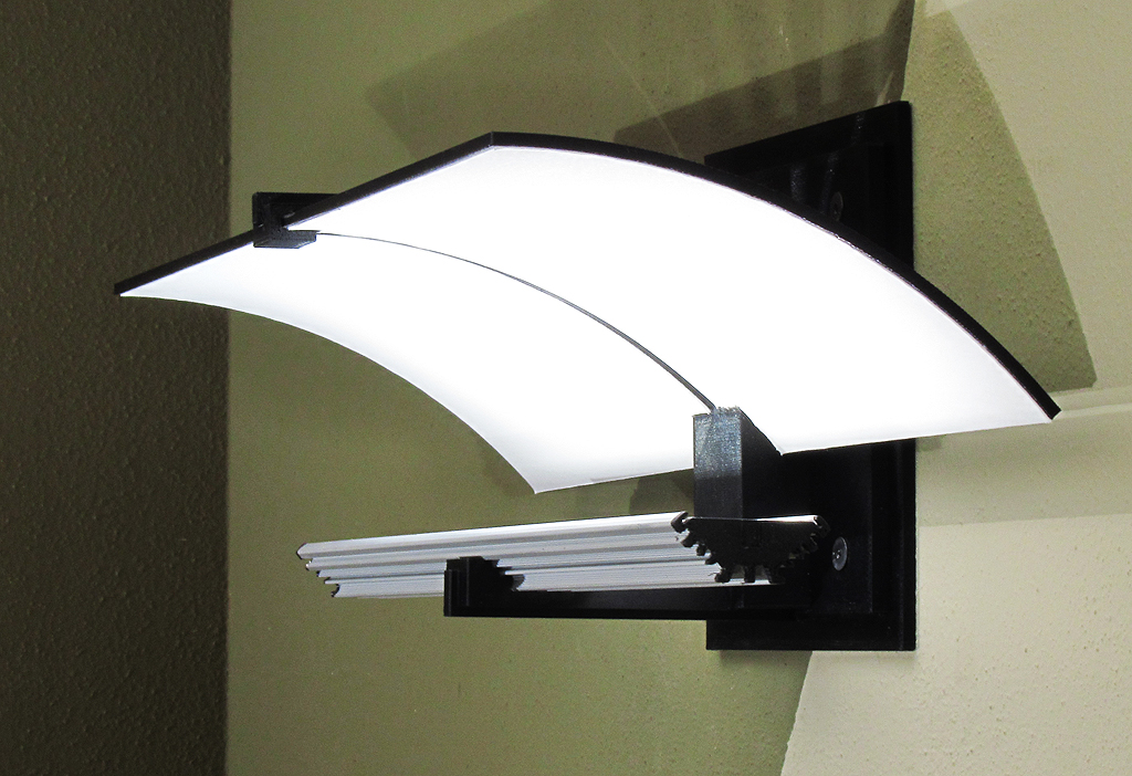 This wall sconce remains in service today, also employing AC LEDs.