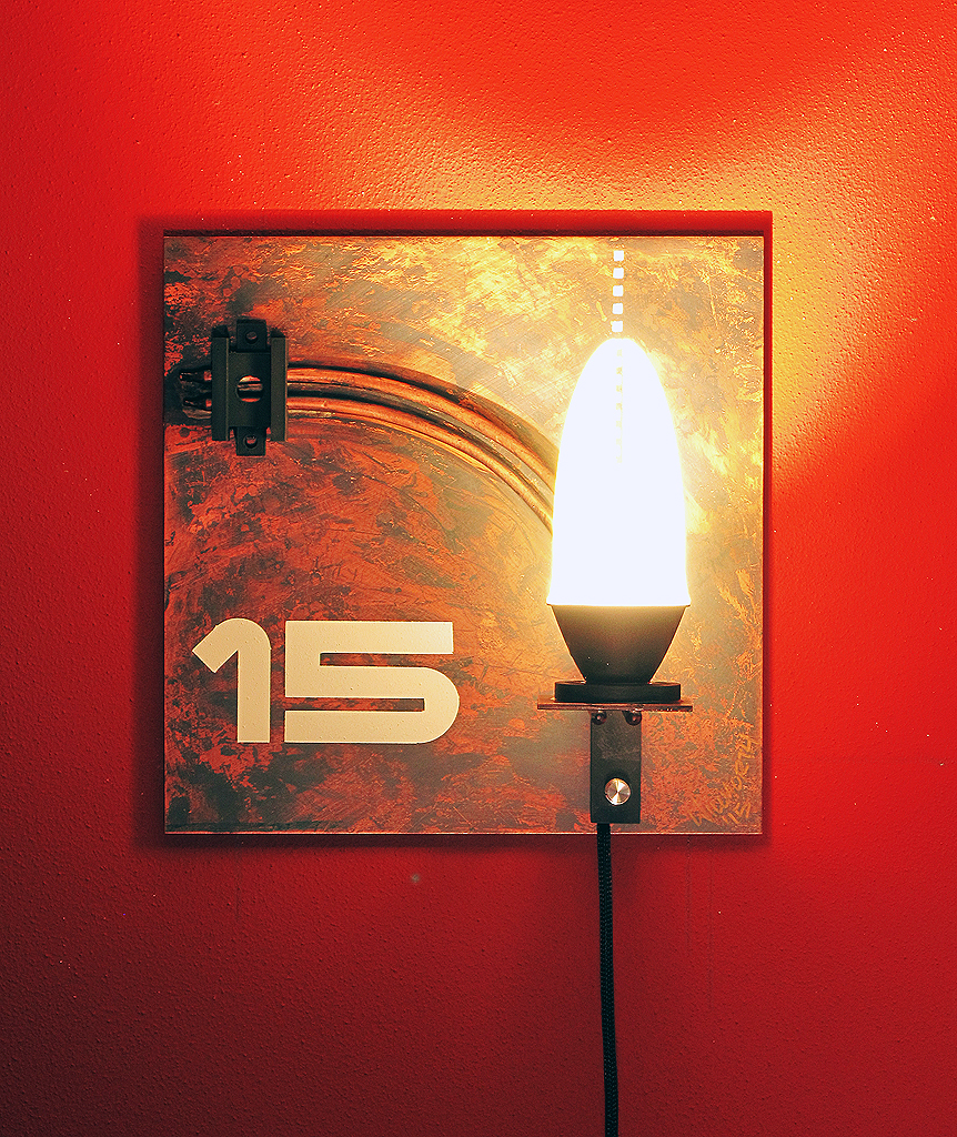 A little industrial chique tribute to 2015 Year of Light.